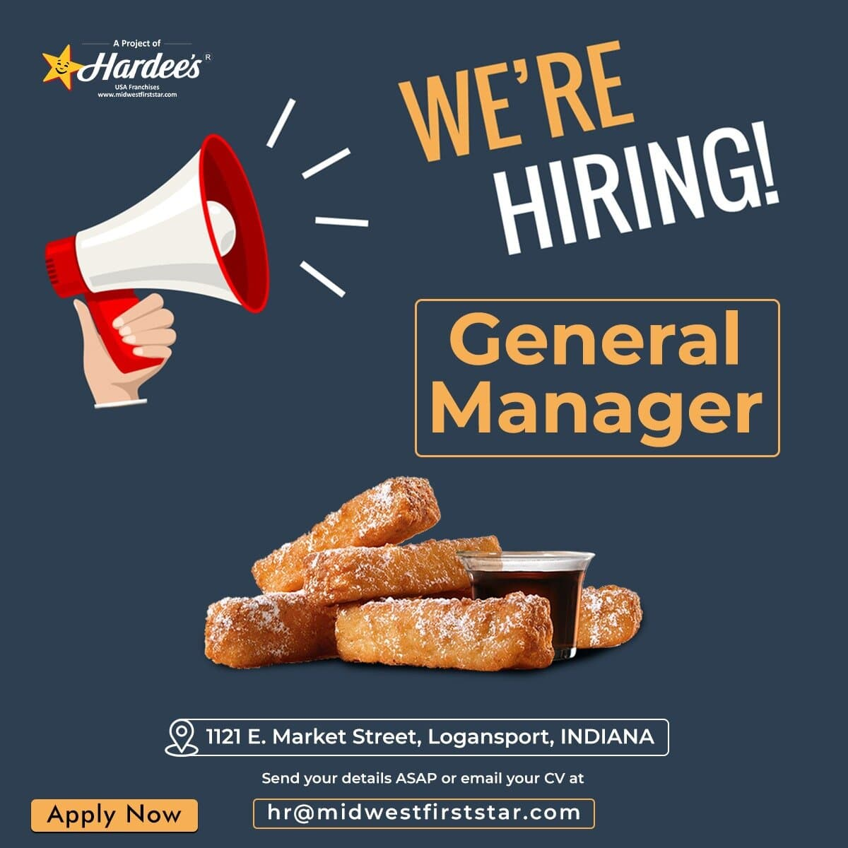 Looking for General Manager for Logansport, Indiana Restaurant